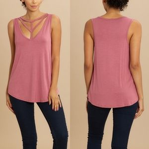 MINA Relaxed Fit Top - MAUVE